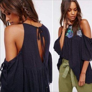 Free People  fast Times Cold Shoulder Beaded Boho
